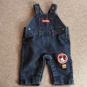 Mickey Mouse Overalls 0-3m